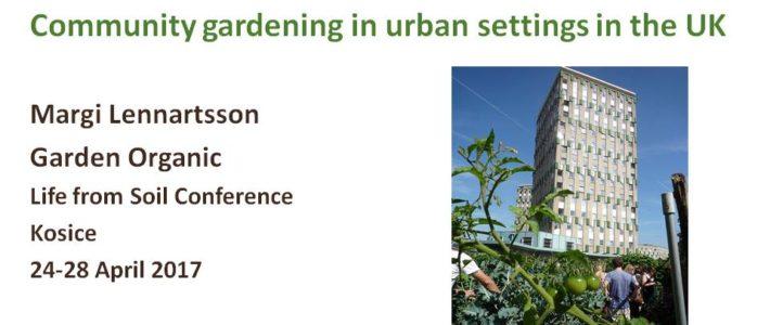 Community gardening in urban settings in the UK